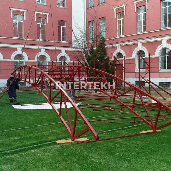 Накрытие  футбольного поля