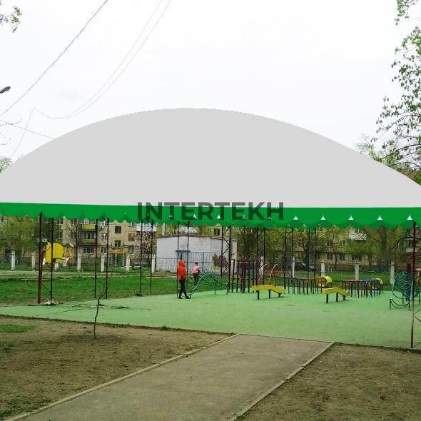 Навес для футбольного поля